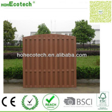 Wood Plastic Fencing Panel Vinyl Waterproof Garden Fence Decking